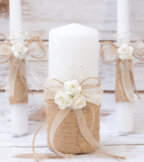 unity-candle-set-rustic-unity-candle-set-unity-ceremony-set-rustic-candles-set-rustic-wedding