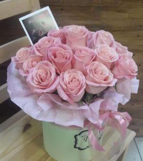 Шляпная коробочка с розой (Арт. 599)